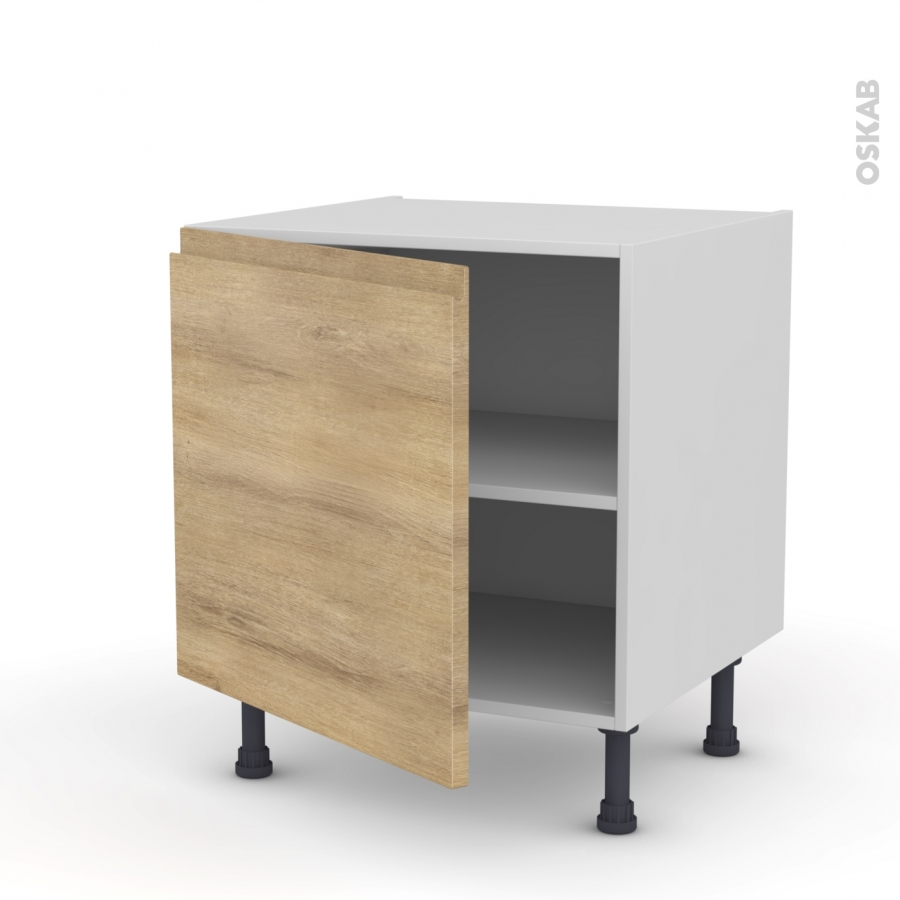 Meuble de cuisine bas ipoma ch ne naturel 1 porte l60 x for Modele de meuble de cuisine