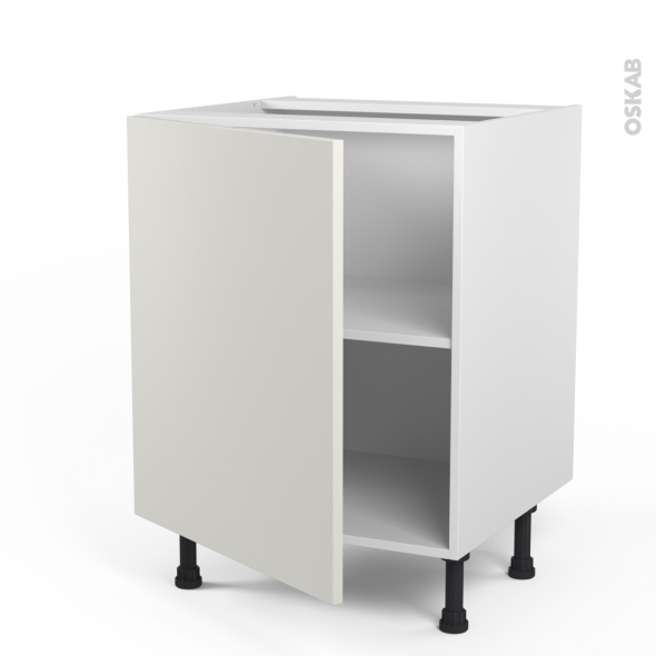 Meuble de cuisine bas ginko blanc 1 porte l60 x h70 x p58 - Meuble bas cuisine 1 porte ...