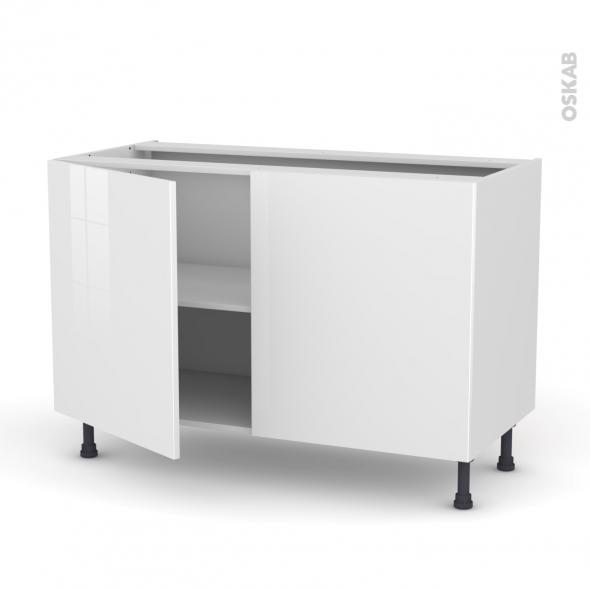 Meuble de cuisine bas stecia blanc 2 portes l120 x h70 x - Portes meuble cuisine ...