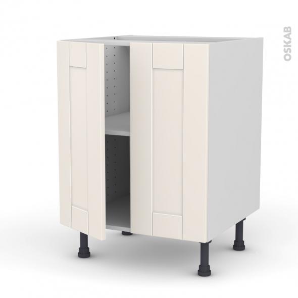 Filipen ivoire meuble bas cuisine 2 portes l60xh70xp58 oskab for Modele porte de cuisine