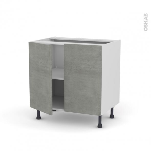 Meuble De Cuisine Bas Fakto B Ton 2 Portes L80 X H70 X P58