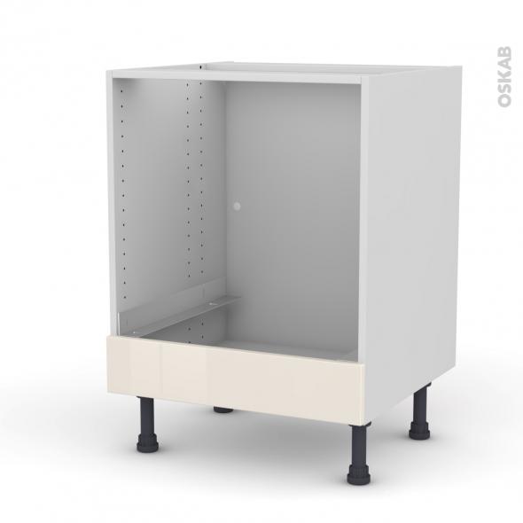 Keria ivoire meuble bas four bandeau bas l60xh70xp58 oskab for Modele meuble de cuisine