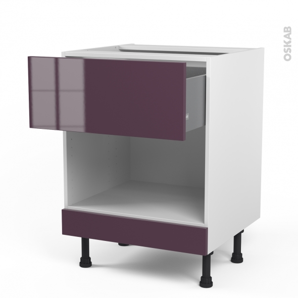 cuisine aubergine mod le keria aubergine brillant oskab. Black Bedroom Furniture Sets. Home Design Ideas
