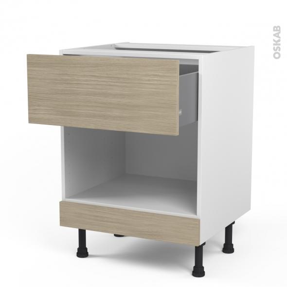 noyer blanchi stilo meuble bas mo niche 35 1 casserolier haut l60xh70xp58 face. Black Bedroom Furniture Sets. Home Design Ideas