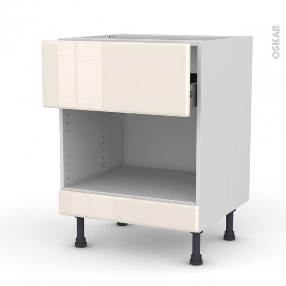 Iris ivoire meuble bas mo niche 45 1 tiroir haut for Meuble tiroir haut