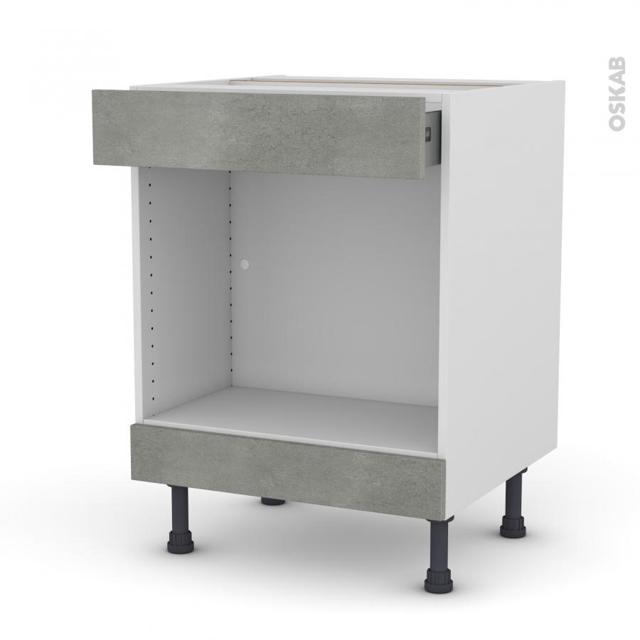 meuble de cuisine bas mo encastrable niche 45 fakto b ton 1 tiroir haut l60 x h70 x p58 cm oskab. Black Bedroom Furniture Sets. Home Design Ideas