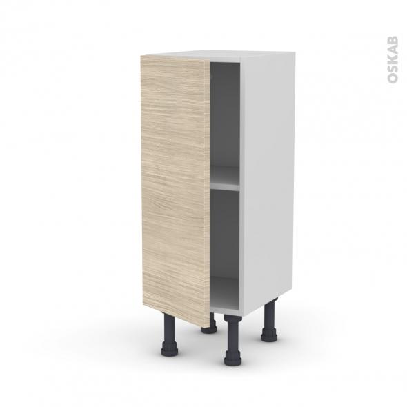 meuble de cuisine bas stilo noyer blanchi 1 porte l30 x h70 x p37 cm oskab. Black Bedroom Furniture Sets. Home Design Ideas