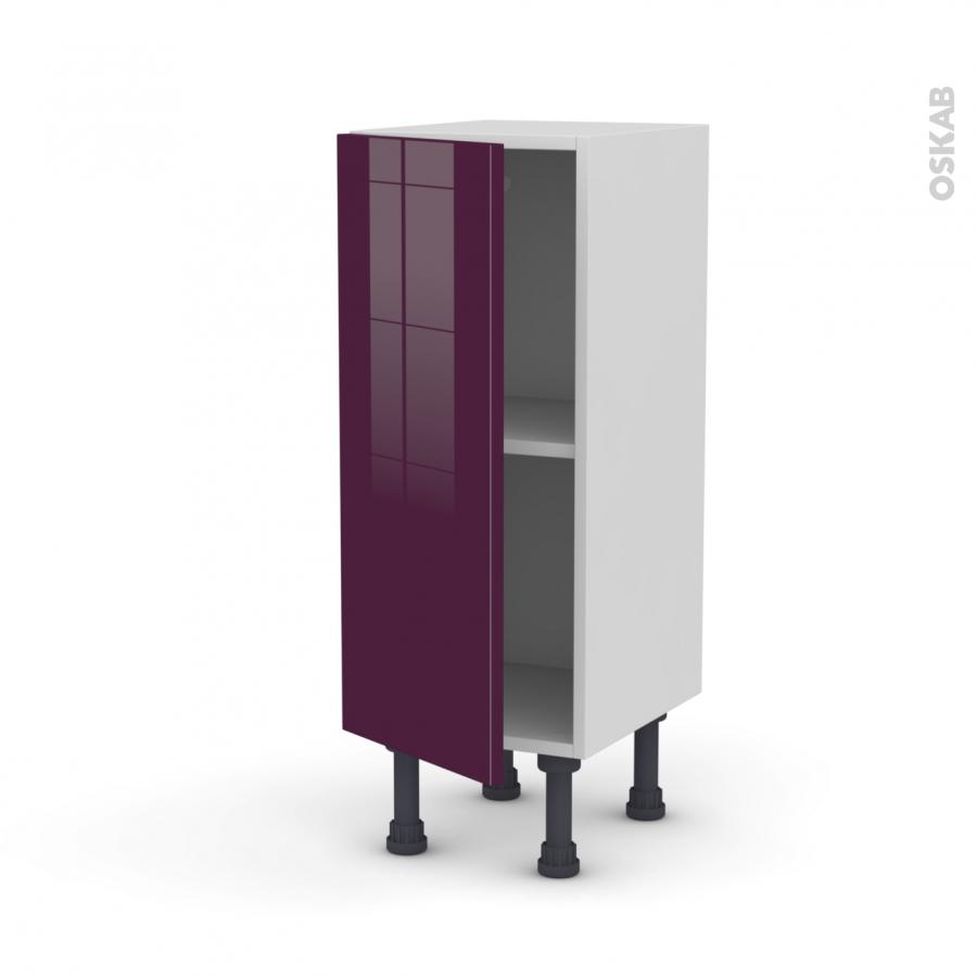 meuble de cuisine bas keria aubergine 1 porte l30 x h70 x p37 cm oskab. Black Bedroom Furniture Sets. Home Design Ideas