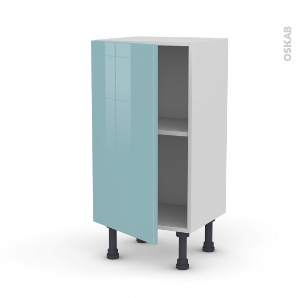 meuble de cuisine bas keria bleu 1 porte l40 x h70 x p37 cm oskab. Black Bedroom Furniture Sets. Home Design Ideas
