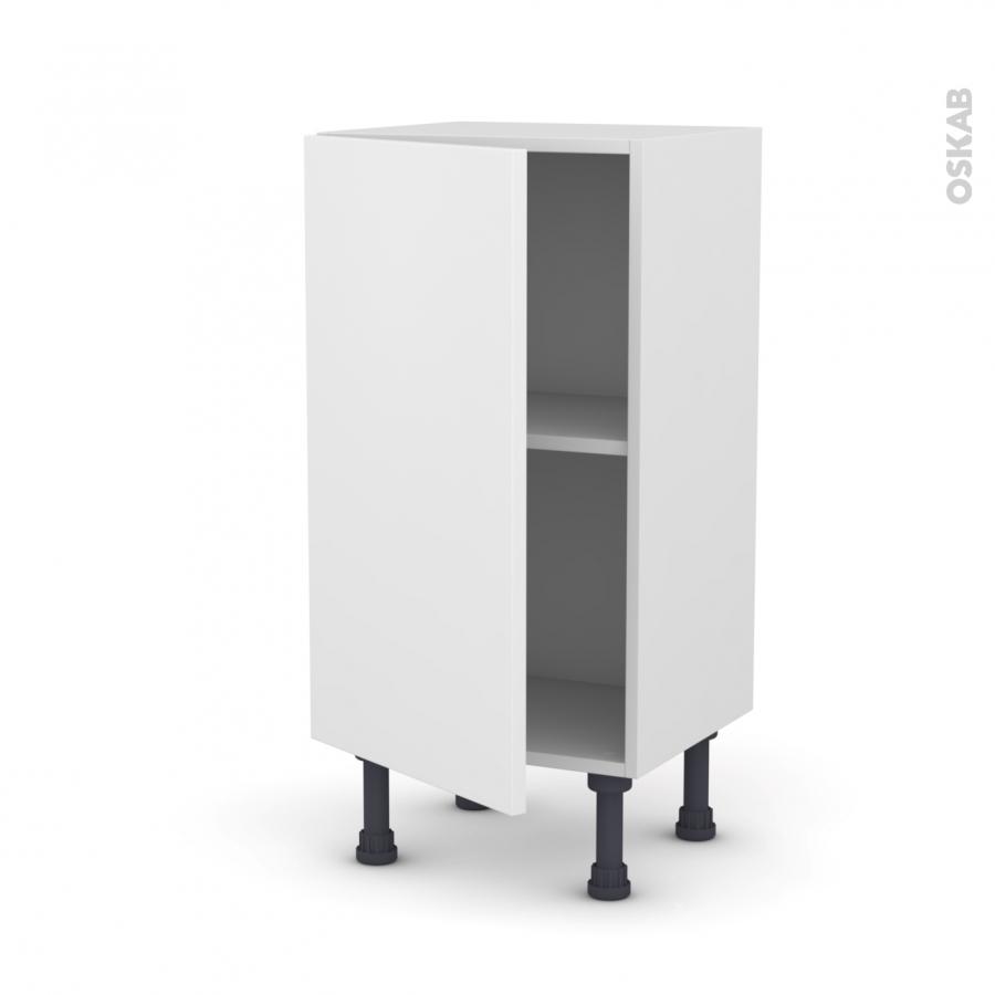 meuble de cuisine bas ginko blanc 1 porte l40 x h70 x p37 cm oskab. Black Bedroom Furniture Sets. Home Design Ideas