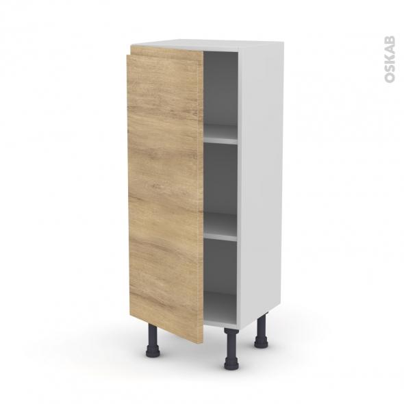 Meuble de cuisine bas ipoma ch ne naturel 1 porte l40 x for Modele meuble de cuisine