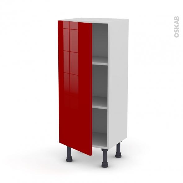 Meuble de cuisine bas stecia rouge 1 porte l40 x h92 x p37 for Meuble bas cuisine rouge