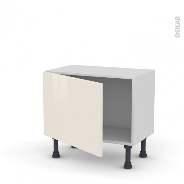 Meuble de cuisine bas keria ivoire 1 porte l60 x h41 x p37 for Meuble de cuisine modele