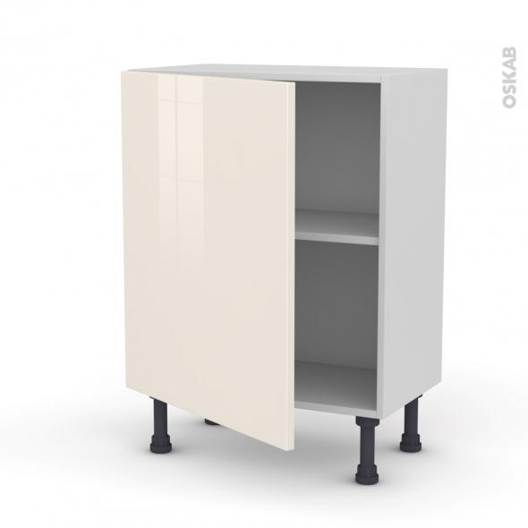 Meuble de cuisine bas keria ivoire 1 porte l60 x h70 x p37 for Modele meuble de cuisine