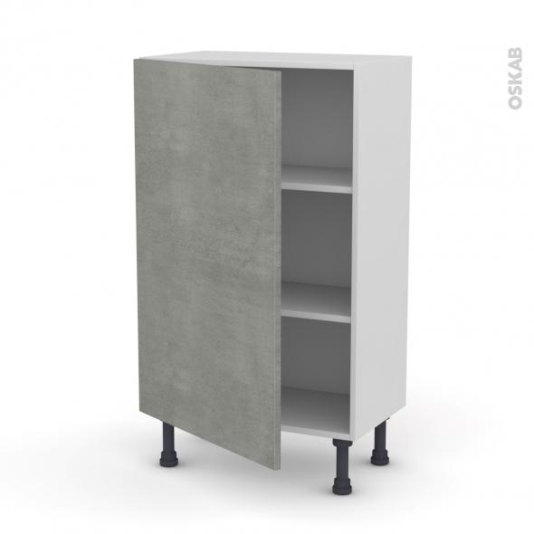Fakto b ton meuble bas 1 porte l60xh92xp37 oskab for Porte cuisine 60 x 30