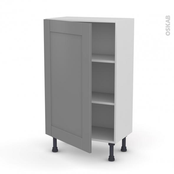 meuble de cuisine bas filipen gris 1 porte l60 x h92 x p37 cm oskab. Black Bedroom Furniture Sets. Home Design Ideas