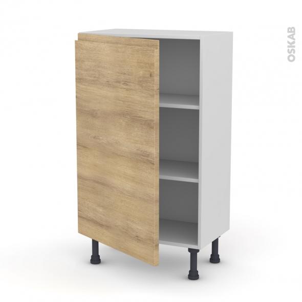 Ipoma ch ne naturel meuble bas 1 porte l60xh92xp37 for Meuble porte fusils chene prix