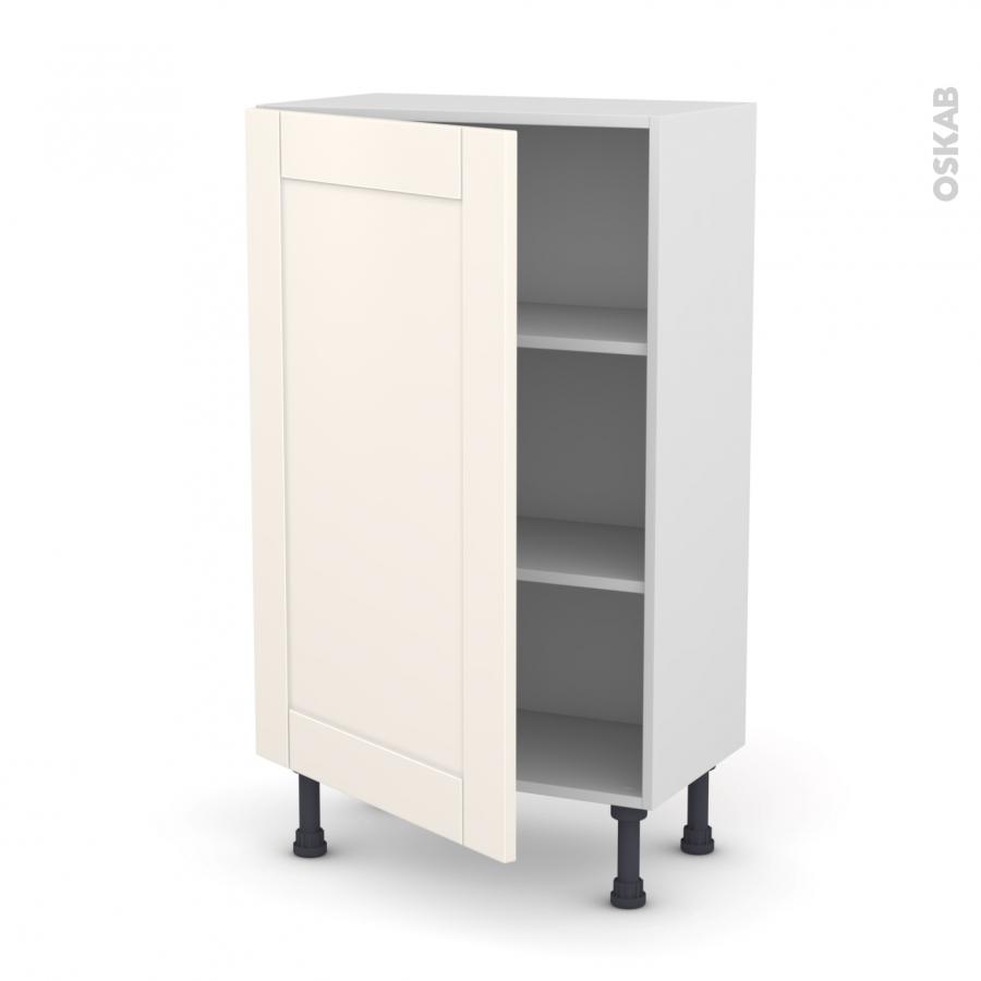 Meuble de cuisine bas filipen ivoire 1 porte l60 x h92 x for Modele meuble cuisine
