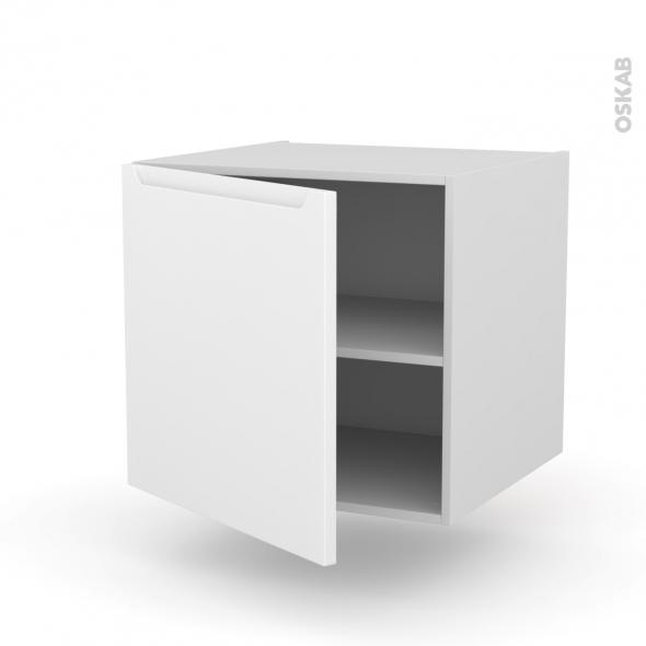Meuble de cuisine bas suspendu pima blanc 1 porte l60 x for Meuble bas de cuisine blanc