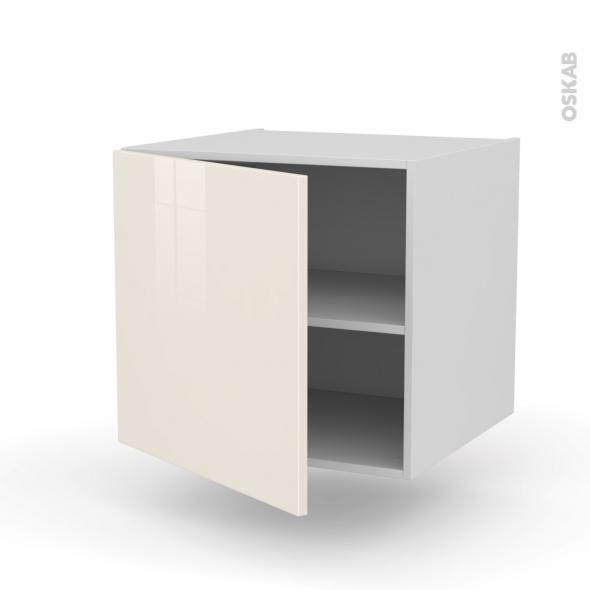 Meuble de cuisine bas suspendu keria ivoire 1 porte l60 x for Meuble de cuisine modele