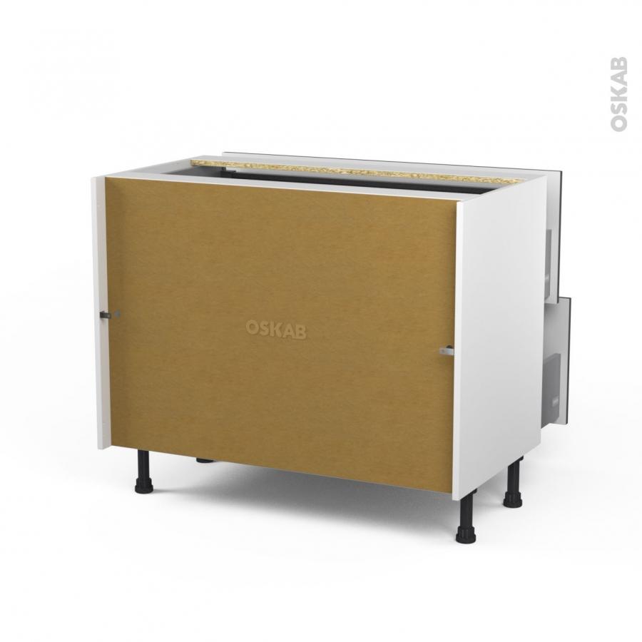 meuble de cuisine casserolier ginko gris 2 tiroirs 1 tiroir l 39 anglaise l100 x h70 x p58 cm oskab. Black Bedroom Furniture Sets. Home Design Ideas