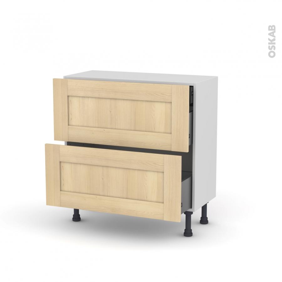 Betula meuble casserolier 2 tiroirs 1 tiroir anglaise - Meuble cuisine a tiroir ...