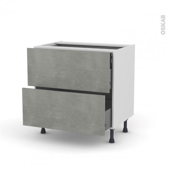 meuble de cuisine casserolier fakto b ton 2 tiroirs 1 tiroir l 39 anglaise l80 x h70 x p58 cm oskab. Black Bedroom Furniture Sets. Home Design Ideas
