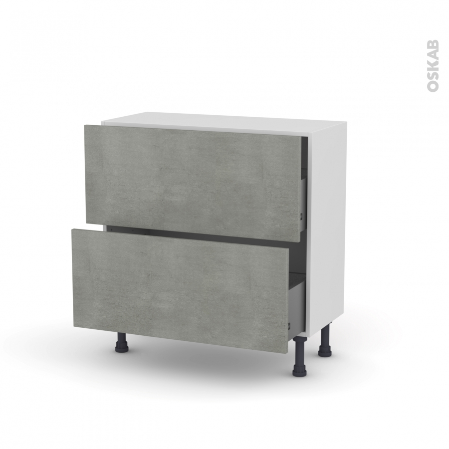 Meuble De Cuisine Casserolier Fakto B Ton 2 Tiroirs L80 X