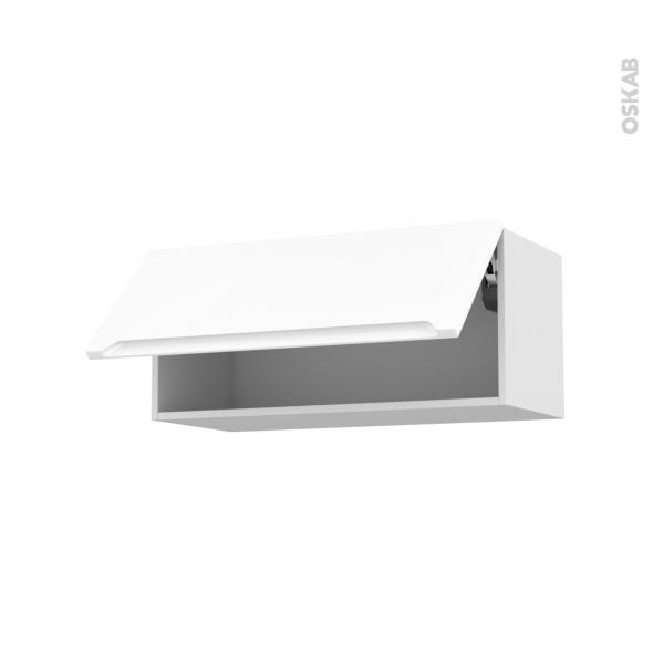 Meuble de cuisine haut abattant pima blanc 1 porte l80 x for Meuble bas cuisine hauteur 80 cm
