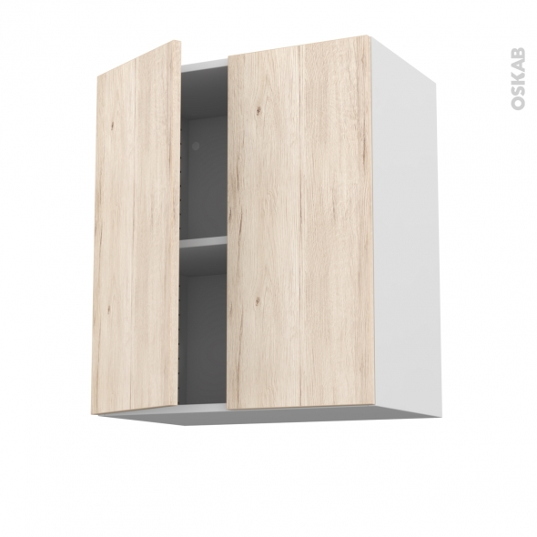 meuble de cuisine haut ouvrant ikoro ch ne clair 2 portes l60 x h70 x p37 cm oskab. Black Bedroom Furniture Sets. Home Design Ideas