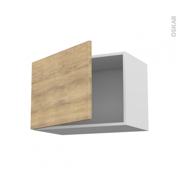 Meuble de cuisine haut ouvrant hosta ch ne naturel 1 porte for Meuble haut cuisine 60 x 60