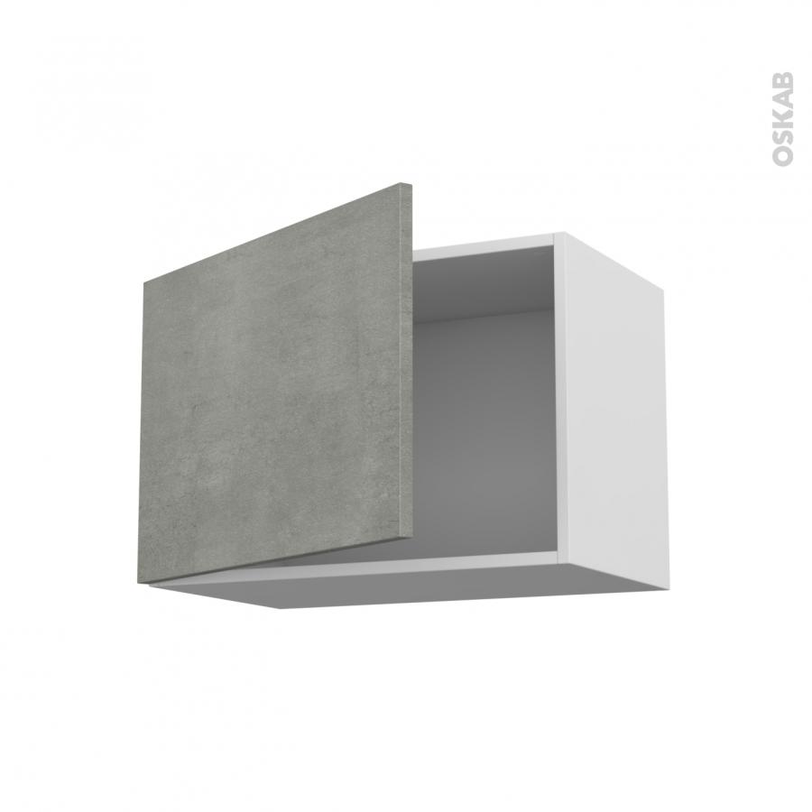 Meuble de cuisine haut ouvrant fakto b ton 1 porte l60 x for Porte cuisine 60 x 30