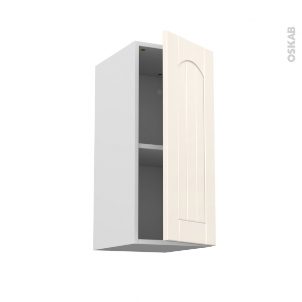 Silen ivoire meuble haut ouvrant h70 1 porte l30xh70xp37 for Porte ouvrant droit