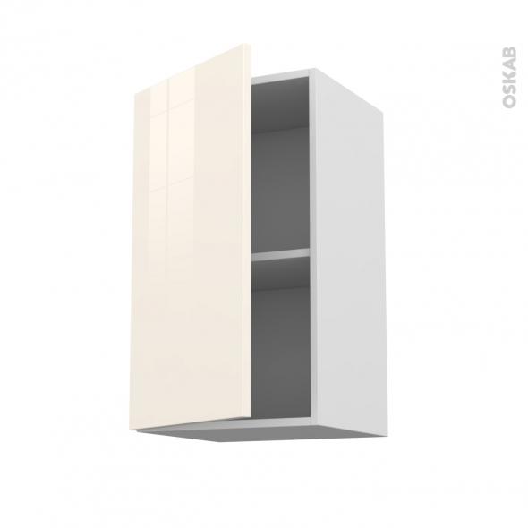 Meuble de cuisine haut ouvrant keria ivoire 1 porte l40 x for Meuble 70 cm de haut