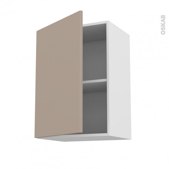 Meuble de cuisine haut ouvrant ginko taupe 1 porte l50 x for Meuble haut cuisine 50 cm