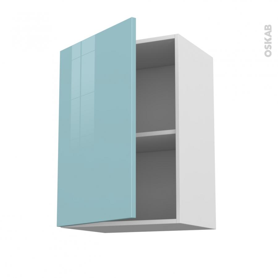 Meuble De Cuisine Haut Ouvrant Keria Bleu 1 Porte L50 X