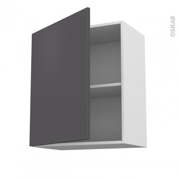 Meuble de cuisine haut ouvrant ginko gris 1 porte l60 x for Meuble 70 cm de haut