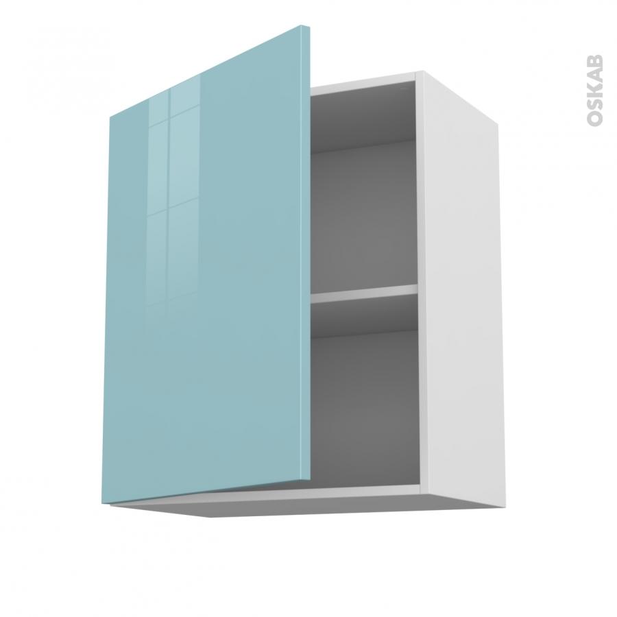 Meuble De Cuisine Haut Ouvrant Keria Bleu 1 Porte L60 X