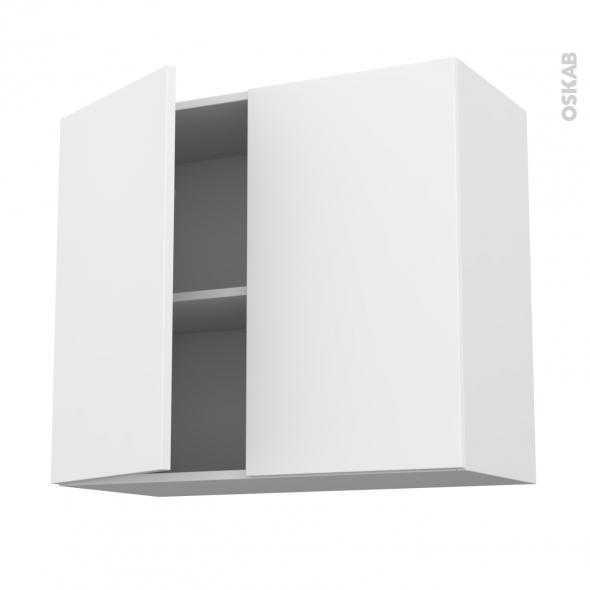 Meuble de cuisine haut ouvrant ginko blanc 2 portes l80 x for Meuble haut blanc cuisine
