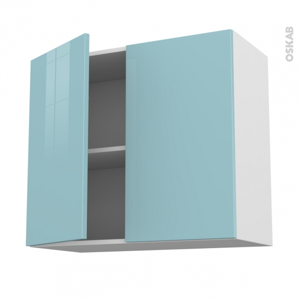 keria bleu meuble haut ouvrant h70 2 portes l80xh70xp37 oskab. Black Bedroom Furniture Sets. Home Design Ideas