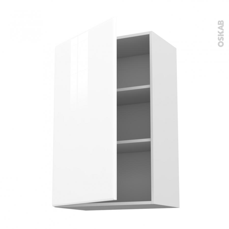 Meuble de cuisine haut ouvrant iris blanc 1 porte l60 x - Meuble haut cuisine blanc ...