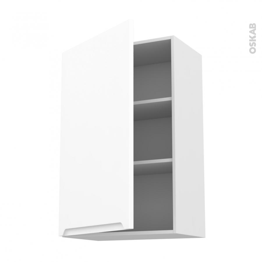 Meuble de cuisine haut ouvrant pima blanc 1 porte l60 x - Meuble haut de cuisine blanc ...