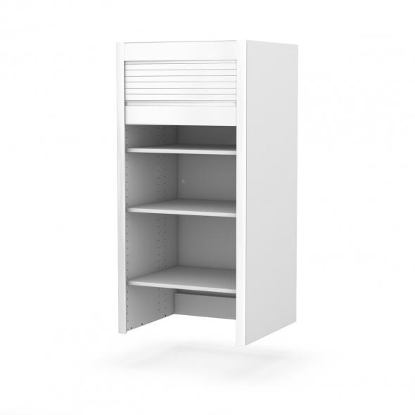 meuble rideau cuisine petit d jeuner coulissant volet blanc mat l60 x h121 x p37 cm sokleo oskab. Black Bedroom Furniture Sets. Home Design Ideas
