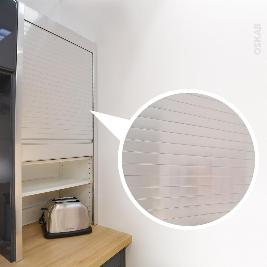 meuble rideau cuisine petit d jeuner coulissant volet aluminium l60 x h121 x p37 cm sokleo oskab. Black Bedroom Furniture Sets. Home Design Ideas