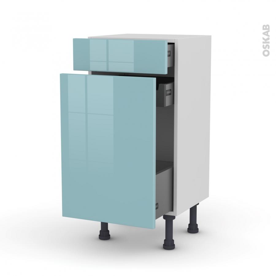 Meuble De Cuisine Range Pice Keria Bleu 3 Tiroirs L40 X