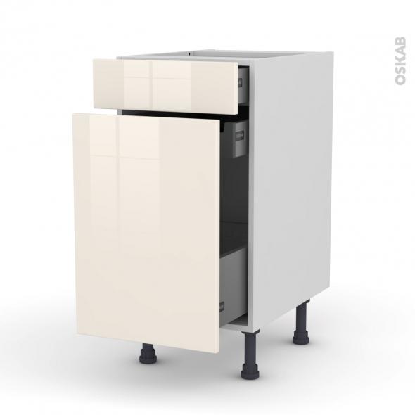 meuble de cuisine range pice keria ivoire 3 tiroirs l40 x h70 x p58 cm oskab. Black Bedroom Furniture Sets. Home Design Ideas