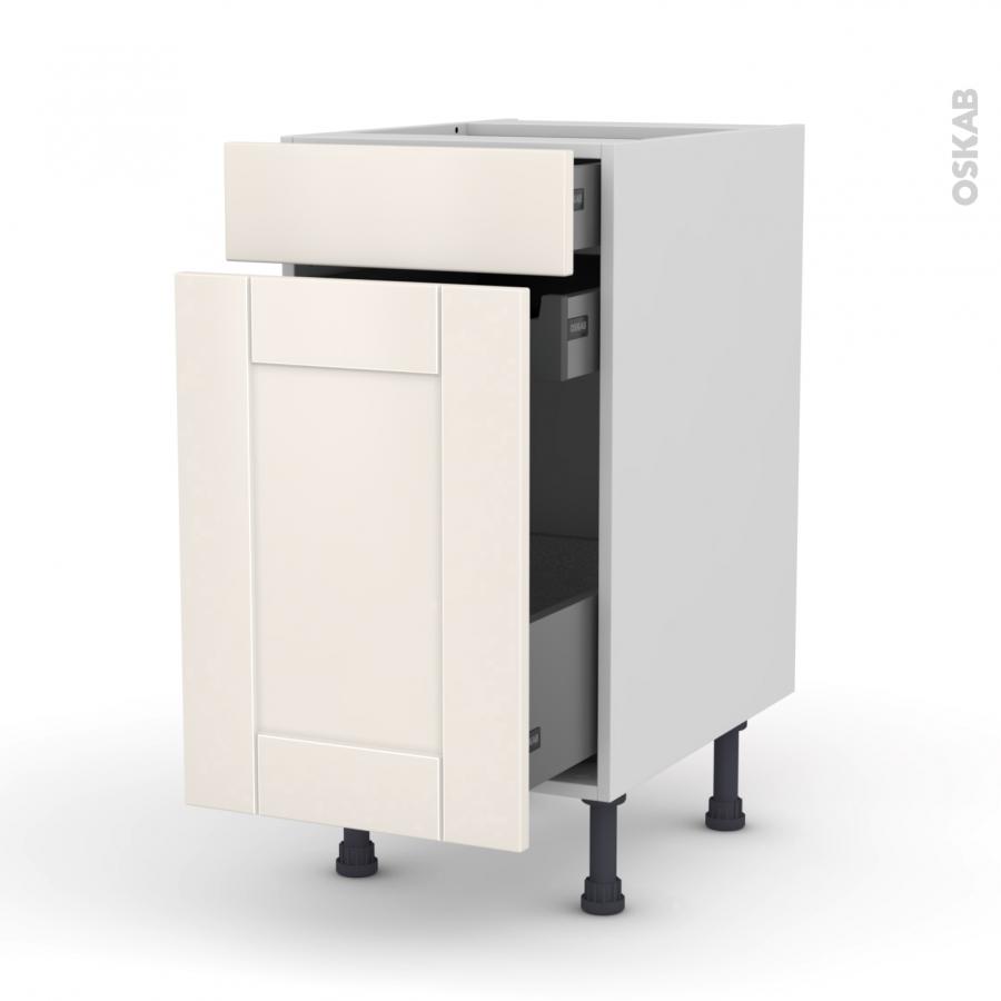 meuble de cuisine range pice filipen ivoire 3 tiroirs l40. Black Bedroom Furniture Sets. Home Design Ideas