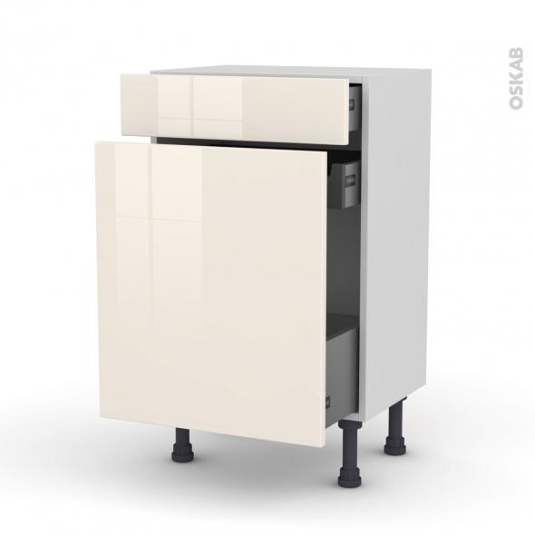 meuble range pice 3 tiroirs l50xh70xp37 keria ivoire oskab. Black Bedroom Furniture Sets. Home Design Ideas