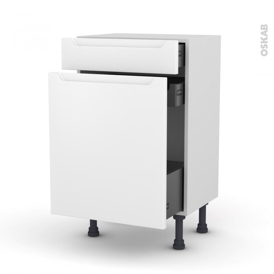 Meuble de cuisine range pice pima blanc 3 tiroirs l50 x - Meuble a epices cuisine ...