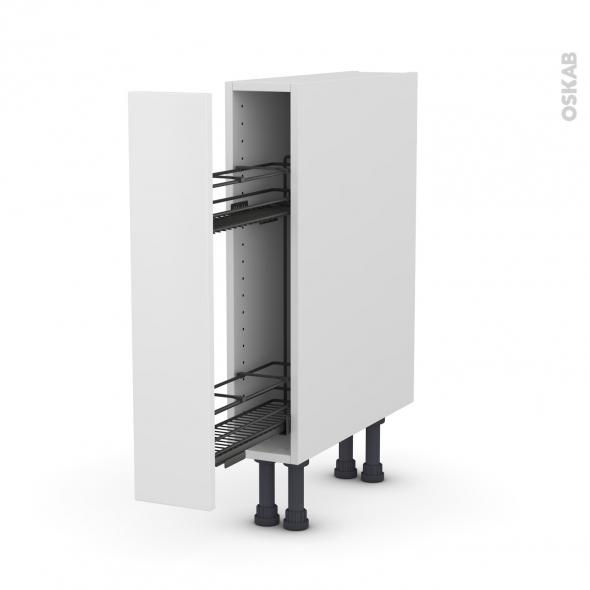 meuble de cuisine range pice epoxy ginko blanc 1 porte l15 x h70 x p58 cm oskab. Black Bedroom Furniture Sets. Home Design Ideas